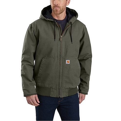Carhartt Men's Washed Duck Insulated Active Jac Moss