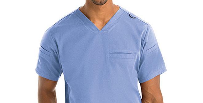 Grey's Anatomy Spandex-Stretch Wesley Top Indigo