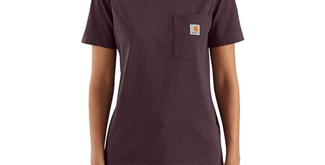 Carhartt Women's K87 Short-Sleeve Pocket Tee - Deep Wine