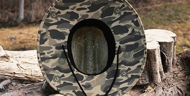 Old South Old School Camo Straw Hat