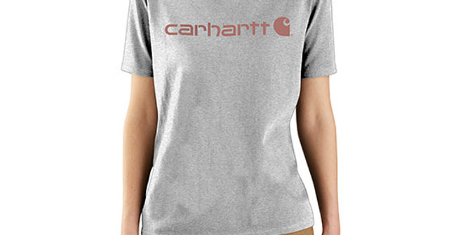 Carhartt Women's Loose Fit Logo Graphic T-Shirt - Heather Grey