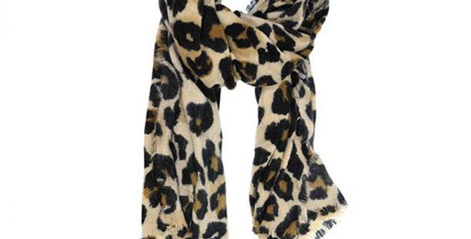 Joy Susan Natural Cheetah Scarf