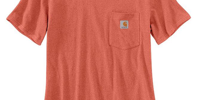 Carhartt Women's K87 Short-Sleeve Pocket Tee - Earth Clay Heather