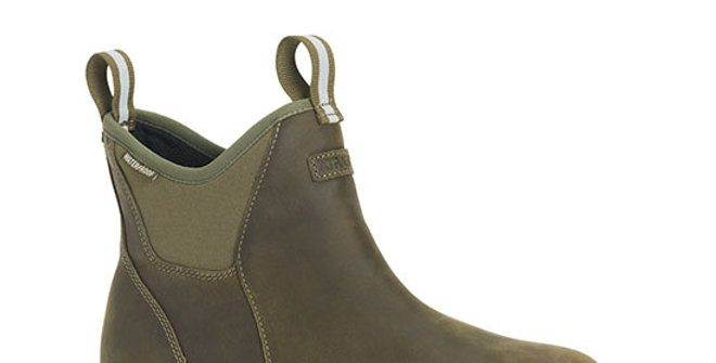 XtraTuf Men's Leather Ankle Deck Boot - Green