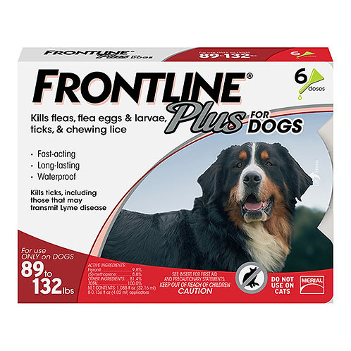 Frontline Plus for Dog 89 to 132 lbs.
