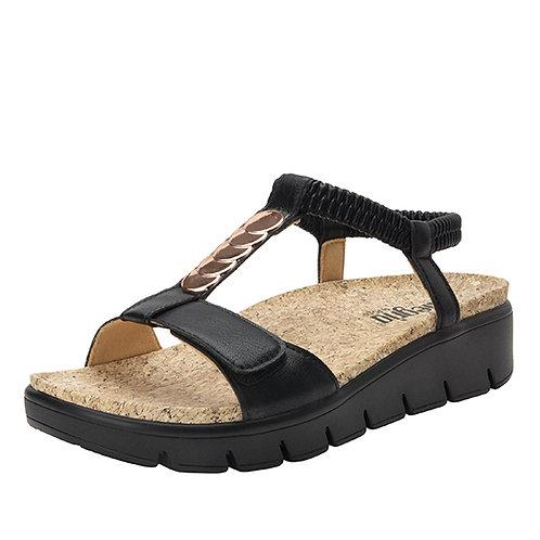Alegria Harlie Black Sandal