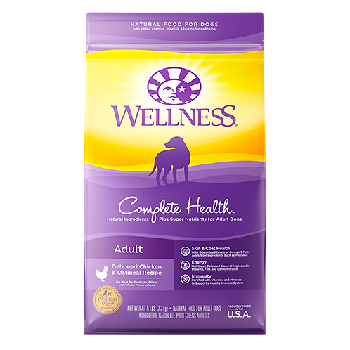 Wellness Complete Health Adult Deboned Chicken and Oatmeal - 5 lb. bag