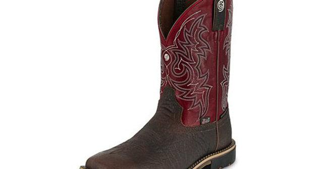 Justin Men's George Strait Fireman Red Soft Toe Boot