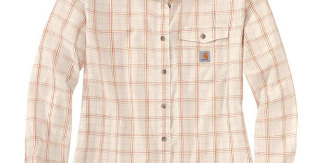 Carhartt Women's Loose Fit Lightweight Plaid Shirt