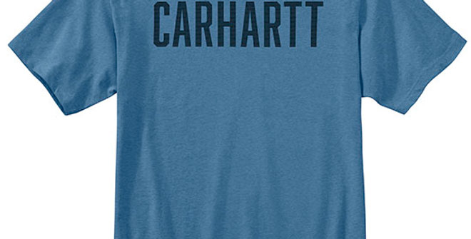 Carhartt Men's Heavyweight Block Logo T-Shirt