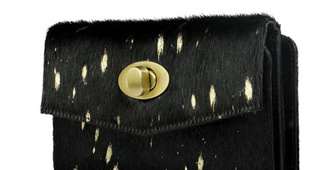 Myra Bag Dotted Gold Wallet