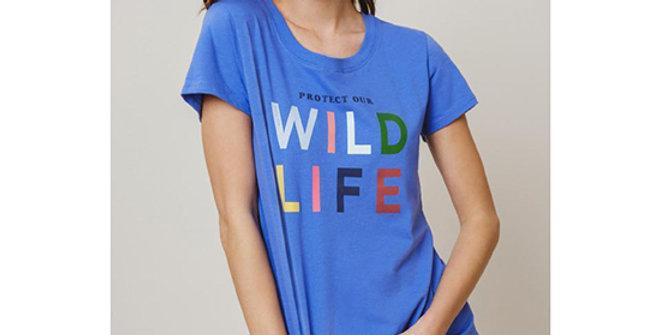 Ivory Ella Amie Slim Wildlife Tee