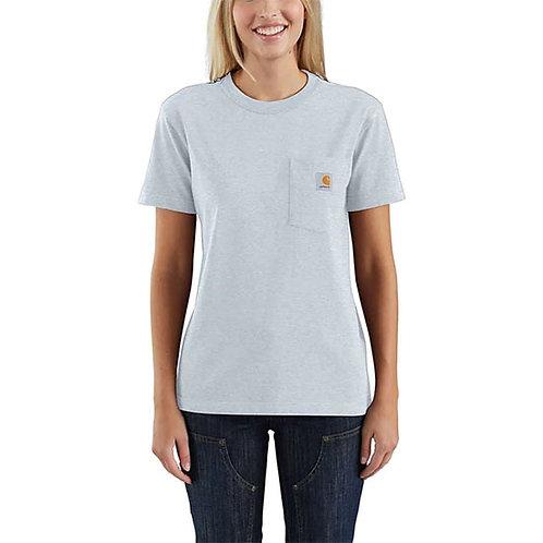 Carhartt Women's Workwear Pocket T-Shirt - Soft Blue Heather