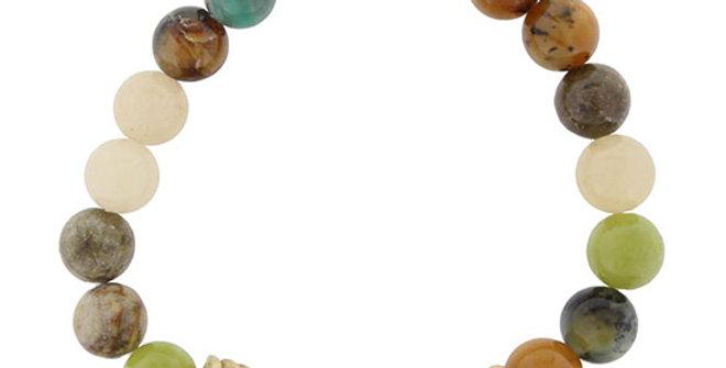 Jane Marie Serpentine Jade Beaded Bracelet