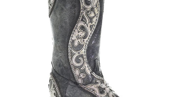Corral Women's Floral Crystal Cowboy Boot