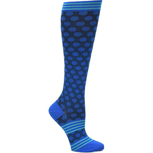 Comfortiva Compression Socks – Sporty Dot Blue