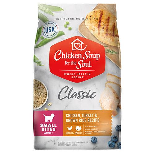Chicken Soup Small Bites Chicken, Turkey & Brown Rice - 13.5 lb. bag