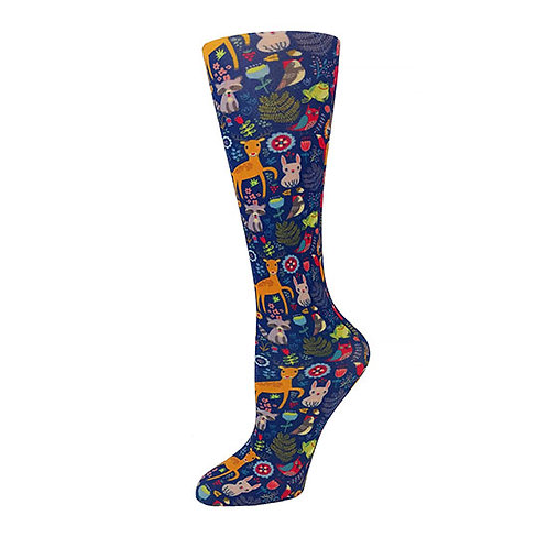 Cutieful 8-15 mmHG Sheer Compression Socks - Woodland Creatures