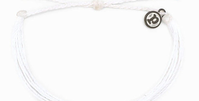Pura Vida Solid White Bracelet
