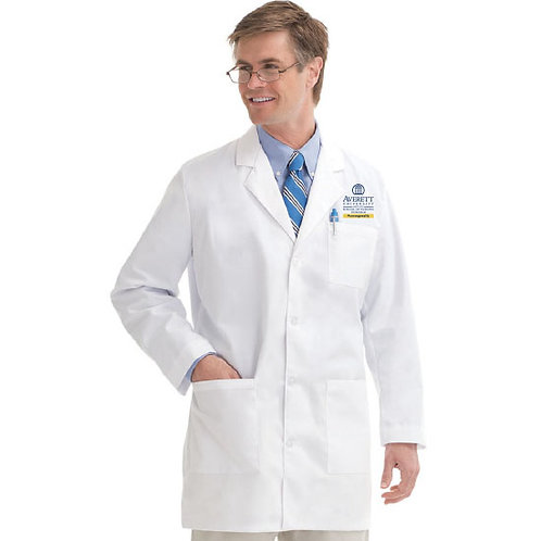 Men's Landau 3-Pocket Poplin Lab Coat