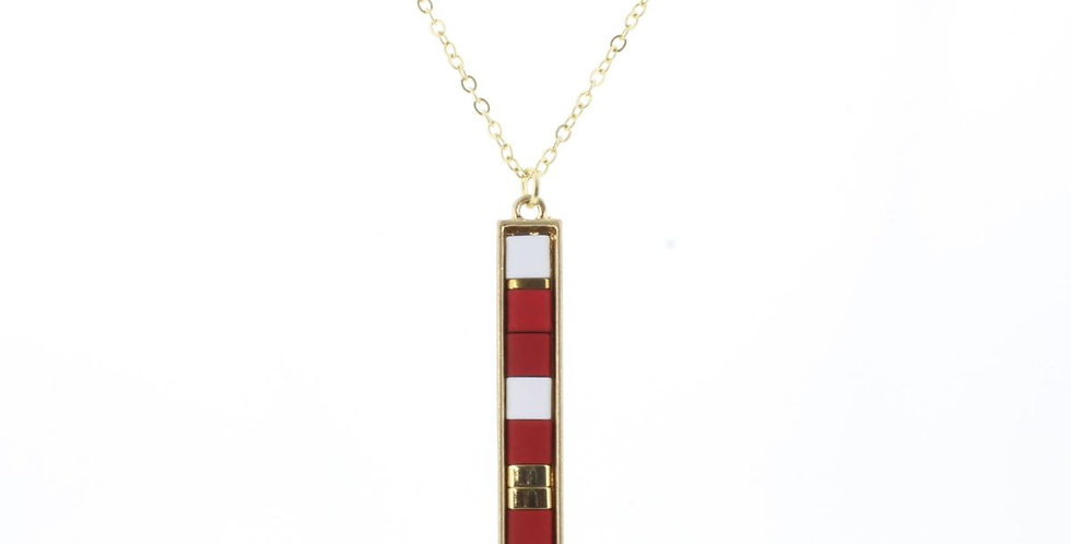 Jane Marie Beaded Bar Necklace