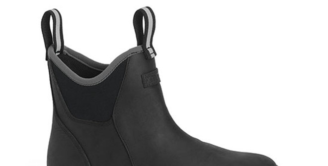 XtraTuf Women's Leather Ankle Deck Boot - Black