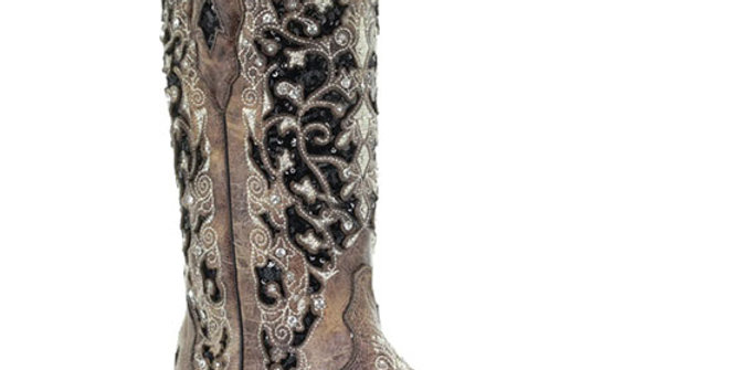 Corral Women's Black Sequin Cowboy Boot