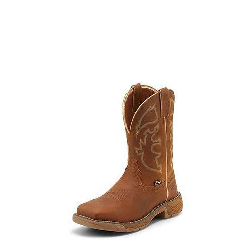Justin Rush Rustic Tan Steel Toe Boot