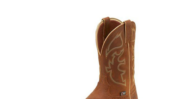 Justin Rush Rustic Tan Steel Toe Boot
