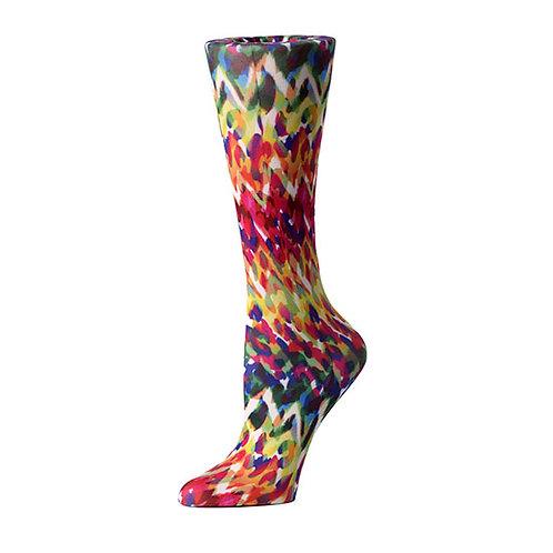 Cutieful 8-15 mmHG Sheer Compression Socks - Animal Fire
