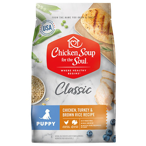 Chicken Soup Puppy Chicken, Turkey & Brown Rice - 13.5 lb. bag