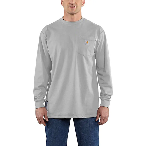 RWEC Carhartt Force Men's FR Cotton Long-Sleeve T-Shirt