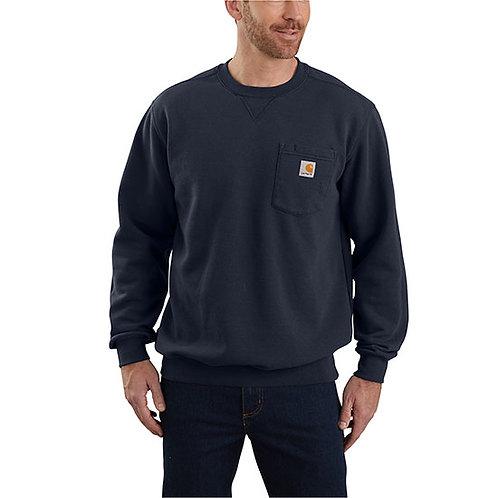 Carhartt Men's Crewneck Pocket Navy Sweatshirt