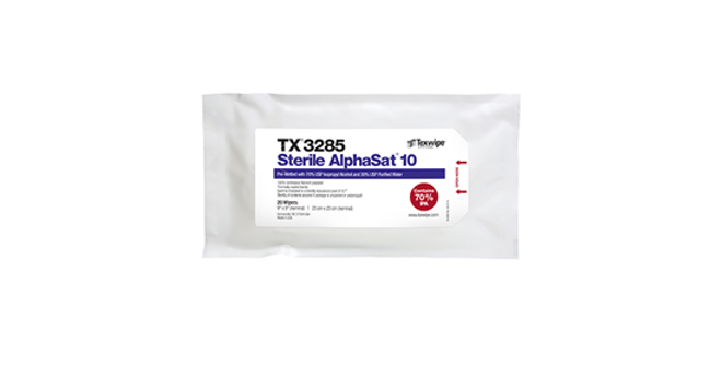 Sterile AlphaSat® with Vectra® Alpha® 10 TX3285 Pre-Wetted Wipes