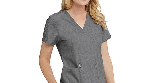 Grey's Anatomy Women's 3 Pocket Fashion Scrub Top