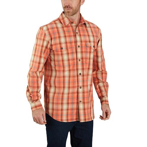 Carhartt Men's Relaxed Fit Long-Sleeve Plaid Shirt