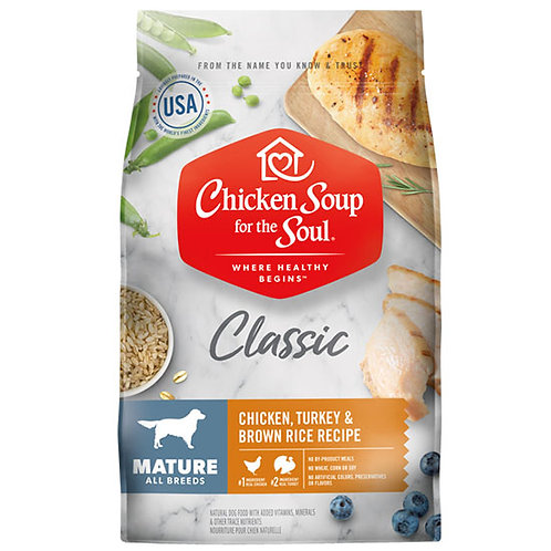 Chicken Soup Mature Chicken, Turkey & Brown Rice - 4.5 lb. bag