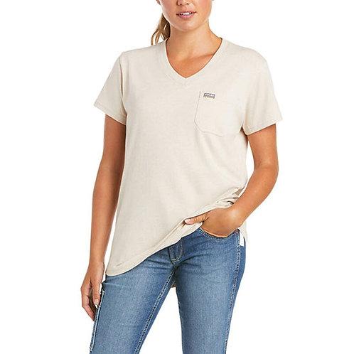 Ariat Women's Rebar Cotton Strong V-Neck Top
