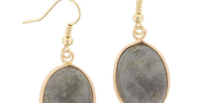 Jane Marie Grey Stone Dangle Earring