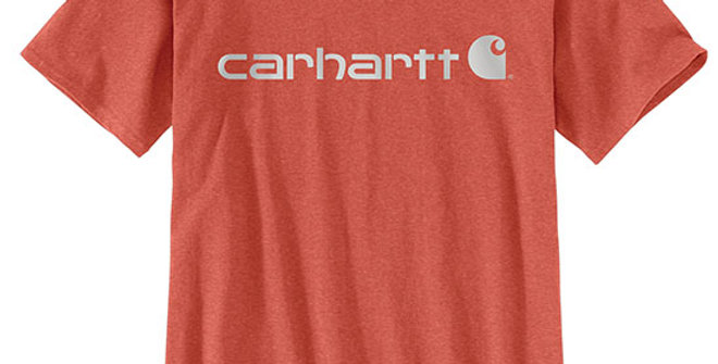 Carhartt Women's Loose Fit Logo Graphic T-Shirt - Earth Clay Heather