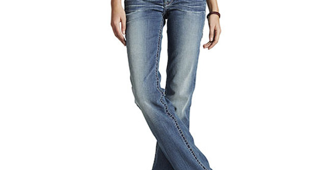 Ariat Women's R.E.A.L. Mid Rise Whipstitch Jean