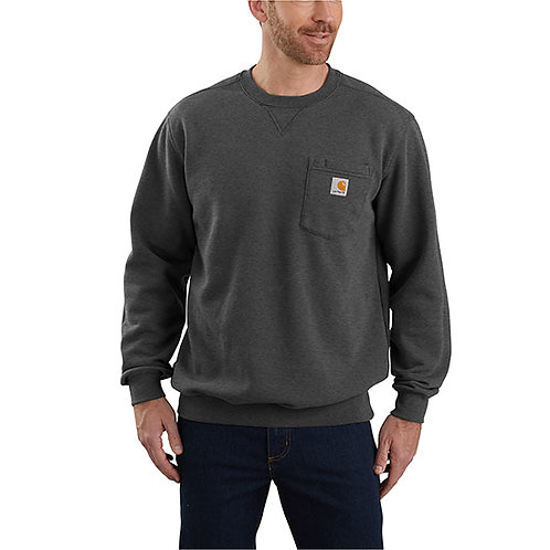 Carhartt Men's Crewneck Pocket Carbon Heather Sweatshirt