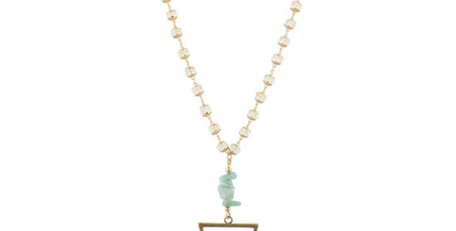 Jane Marie Amazonite Stacked Stone Necklace