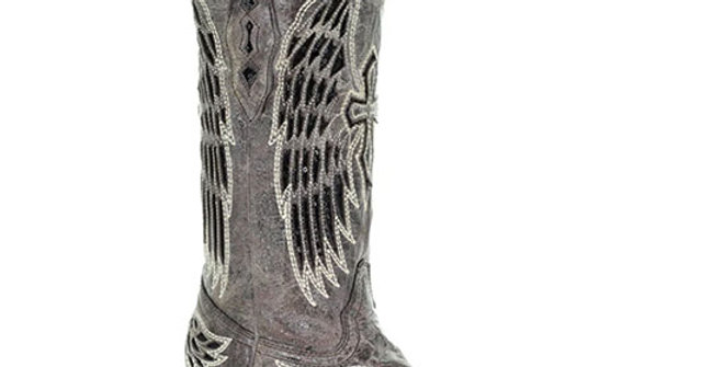 Corral Women's Black Sequin Cross Cowboy Boot