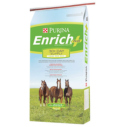 Purina Enrich Plus Ration Balancing Horse Feed - 50 lb. bag