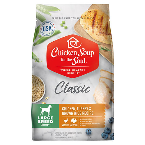 Chicken Soup Large Breed Chicken, Turkey & Brown Rice - 28 lb. bag
