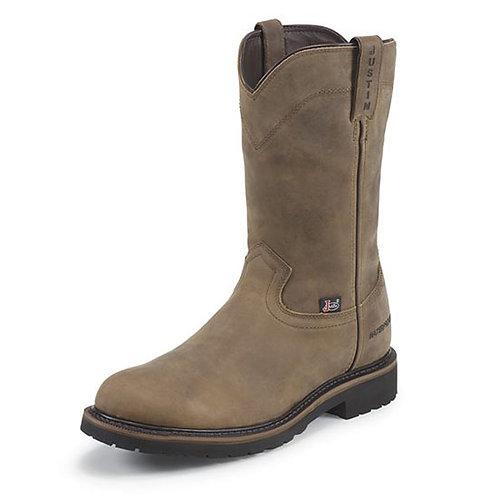 Justin Men's Drywall Pull-on Waterproof Steel Toe Boot