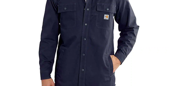 Carhartt Men's Flame-Resistant Full Swing Quick Duck Shirt Jac