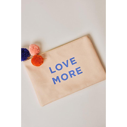 Ivory Ella Love More Tropical Leaves Canvas Pouch