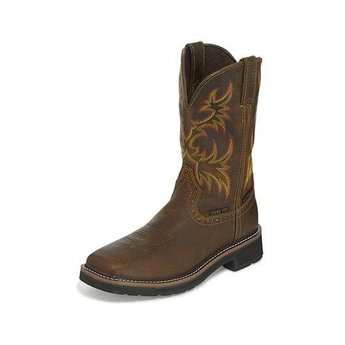 Justin Men's Driller Waterproof Steel Toe Boot